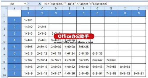 Excel中的相对引用和绝对引用